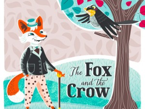 "Book cover, ""The fox and the crow"""