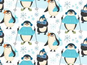 Wintery penguins Pattern